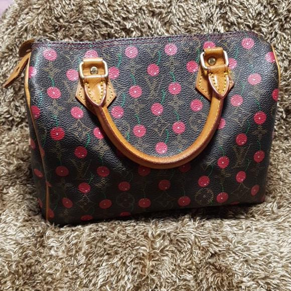Cherry speedy bag 25
